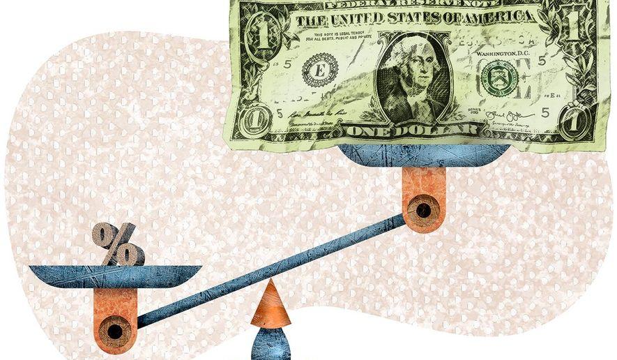 Low Interest, Big Money Illustration by Greg Groesch/The Washington Times