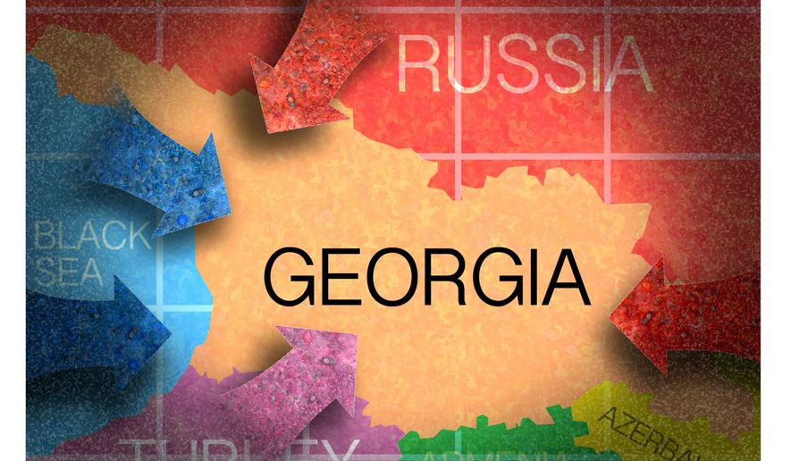 Illustration on Georgia by Alexander Hunter/The Washington Times