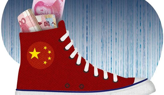 Cashing in on China Illustration by Greg Groesch/The Washington Times