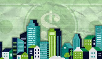 Building Green Illustration by Greg Groesch/The Washington Times
