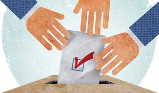 Proxy Voting Reform Illustration by Greg Groesch/The Washington Times
