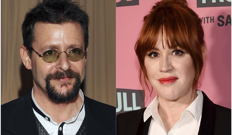 This combination photo shows actor Judd Nelson backstage during the 82nd Academy Awards in Los Angeles on March 7, 2010, left, and actress Molly Ringwald at a screening in Beverly Hills, Calif. on May 24, 2018. Nelson says he doesnt share the misgivings about The Breakfast Club that co-star Ringwald expressed in a first-person column for The New Yorker in 2018. She wrote about watching the movie a few years earlier with her then 10-year-old daughter and the interactions that her character had with the bad boy portrayed by Nelson. He says he thinks the 1985 movie is a product of its time. (AP Photo)