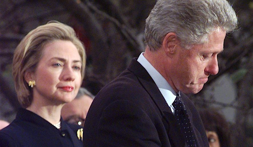 Several media outlets have speculated that former Secretary of State Hillary Clinton, pictured here on Dec. 19 1998, may announce another campaign for president. Several opinion writers even recommended it. (Associated Press)
