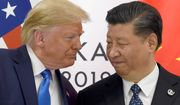 """""""I would like to get along with China if we can, and if we can, that's great. If we can't, that's OK, too,"""" President Trump said about U.S. diplomatic relations with China and Chinese President Xi Jinping. (Associated Press)"""