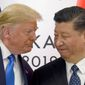 """I would like to get along with China if we can, and if we can, that's great. If we can't, that's OK, too,"" President Trump said about U.S. diplomatic relations with China and Chinese President Xi Jinping. (Associated Press)"