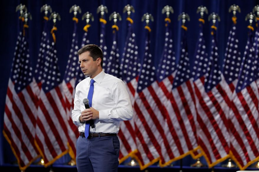 Democratic presidential candidate Pete Buttigieg has a hefty war chest and solid positioning at the front of the pack of second-tier hopefuls. (Associated Press)