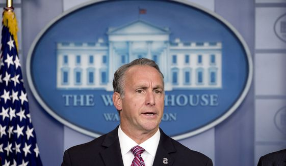 Immigration and Customs Enforcement Director Matt Albence speaks in the Briefing Room at the White House in Washington, Thursday, Oct. 10, 2019. (AP Photo/Andrew Harnik) **FILE**