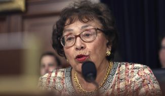 In this April 9, 2019, file photo, Rep. Nita Lowey, D-N.Y., speaks during a hearing on Capitol Hill in Washington. Lowey, the chairwoman of the House Appropriations Committee and a 31-year veteran of Congress, says she will retire at the end of next year. (AP Photo/Andrew Harnik, File) **FILE**