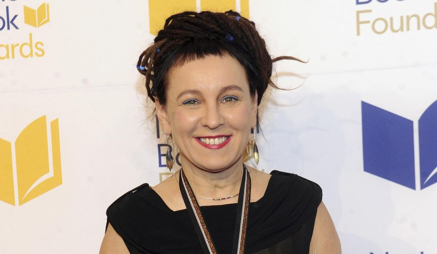 This Nov. 14, 2018, file photo shows Polish author Olga Tokarczuk at the 69th National Book Awards Ceremony and Benefit Dinner in New York. (Photo by Brad Barket/Invision/AP, File)