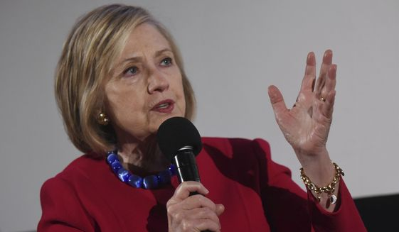"""""""Maybe there does need to be a rematch,"""" Hillary Clinton said about the 2016 presidential election she lost. (Associated Press/File)"""