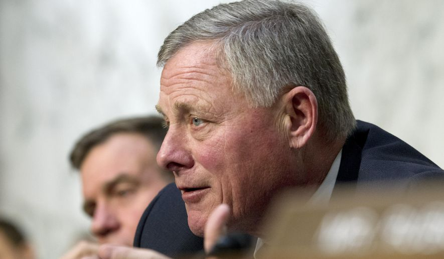 In this Jan. 29, 2019, photo, Senate Intelligence Committee Chairman Richard Burr, R-N.C., speaks during a Senate Intelligence Committee hearing on Capitol Hill in Washington. (AP Photo/Jose Luis Magana) **FILE**