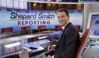 "In this Jan. 30, 2017, photo, Fox News Channel chief news anchor Shepard Smith appears on the set of ""Shepard Smith Reporting"" in New York. (AP Photo/Richard Drew) **FILE**"