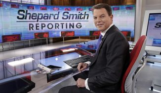 """In this Jan. 30, 2017, file photo, Fox News Channel chief news anchor Shepard Smith appears on the set of """"Shepard Smith Reporting"""" in New York. (AP Photo/Richard Drew, File)"""