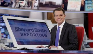 """In this Jan. 30, 2017, photo, Fox News Channel chief news anchor Shepard Smith appears on the set of """"Shepard Smith Reporting"""" in New York. Smith, whose newscast on Fox News Channel seemed increasingly an outlier on a network dominated by supporters of President Trump, says he is leaving the network. He has worked at Fox News Channel since the network started in 1996. In a statement, Smith said he had asked the company to let him leave. He gave no reason for the seemingly sudden decision. (AP Photo/Richard Drew) **FILE**"""