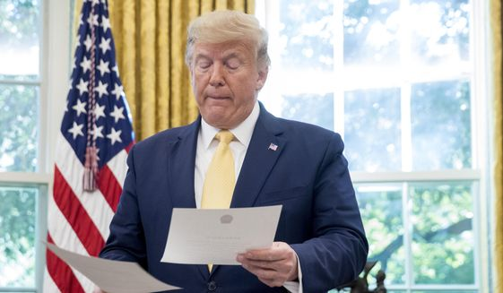 President Trump imposed travel restrictions in January in anticipation of a potential health crisis, but the limits were criticized by the World Health Organization. (Associated Press/File)