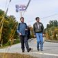 Democratic presidential candidate and former U.S. Rep. Joe Sestak (right) is walking across New Hampshire to gain exposure during his campaign. (ASSOCIATED PRESS)