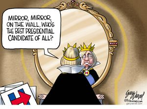 Mirror, mirror, on the wall, who's the best presidential candidate of all?