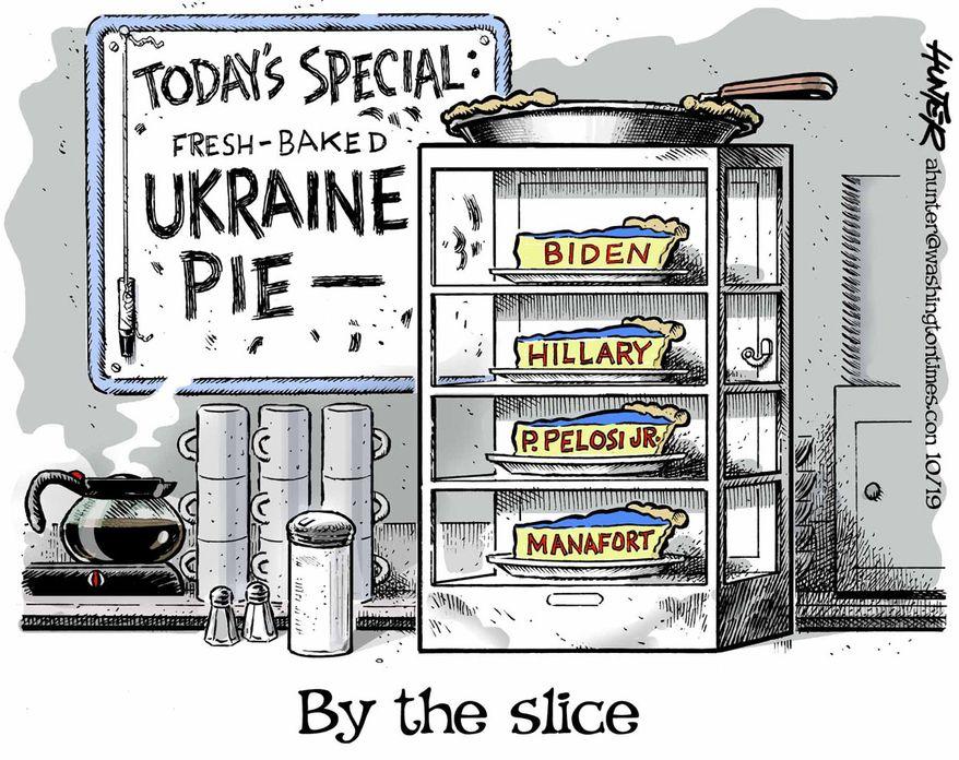Illustration by Alexander Hunter for The Washington Times (published October 14, 2019)