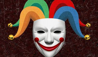 Joker Mask Illustration by Greg Groesch/The Washington Times