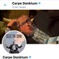 Twitter briefly suspended the account of Carpe Donktum on Oct. 14, 2019. His popular memes on media bias against the president attract hundreds-of-thousands of views. (Twitter, Carpe Donktum, profile and header images)