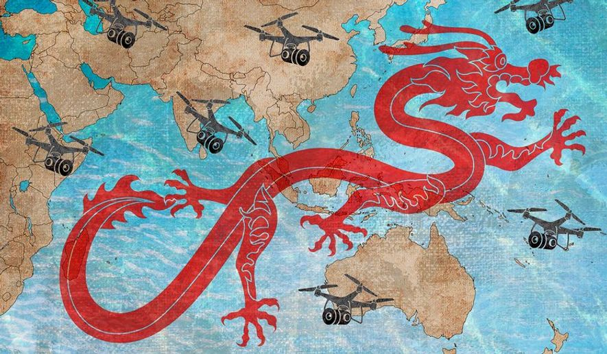 Eyes on China Illustration by Greg Groesch/The Washington Times