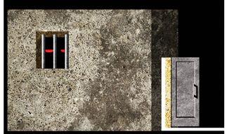 Illustration on abolishing prisons by Alexander Hunter/The Washington Times