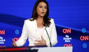 Democratic presidential candidate Rep. Tulsi Gabbard, D-Hawaii, participates in a Democratic presidential primary debate hosted by CNN/New York Times at Otterbein University, Tuesday, Oct. 15, 2019, in Westerville, Ohio. (AP Photo/John Minchillo)