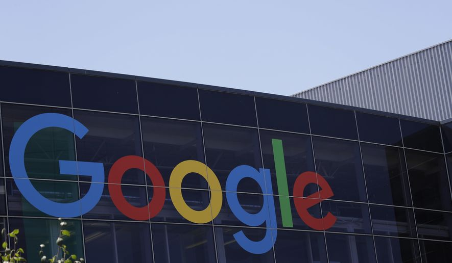 FILE - This July 19, 2016, file photo shows the Google logo at the company's headquarters in Mountain View, Calif. Google is expected to unveil a new Pixel phone with an updated camera and an emphasis on artificial intelligence features. (AP Photo/Marcio Jose Sanchez, File)