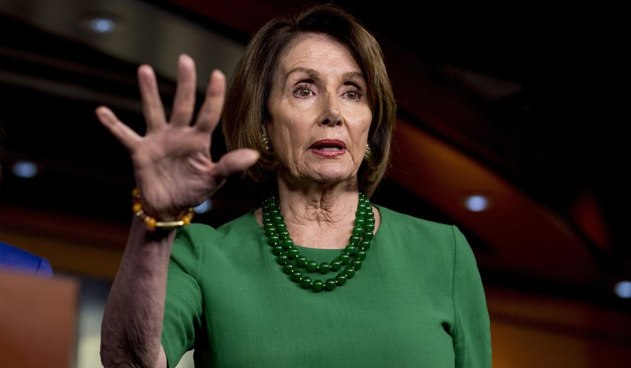 House Speaker Nancy Pelosi of Calif., speaks at a news conference to unveil the College Affordability Act on Capitol Hill in Washington, Tuesday, Oct. 15, 2019. (AP Photo/Andrew Harnik)