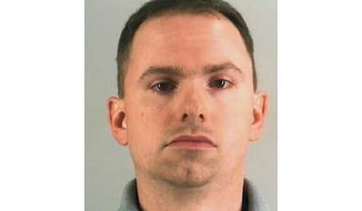 This undated photo provided by the Tarrant County Jail shows Aaron Dean. The Fort Worth police officer who shot and killed a black woman through a back window of her home while responding to a call about an open front door was charged with murder on Monday after resigning from the force. (Tarrant County Jail via AP)