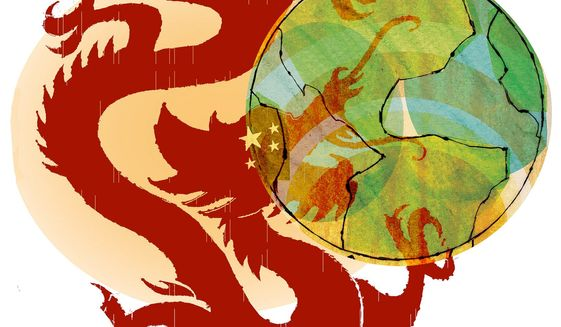 Illustration on the growing threat of China by Donna Grethen/Tribune Content Agency