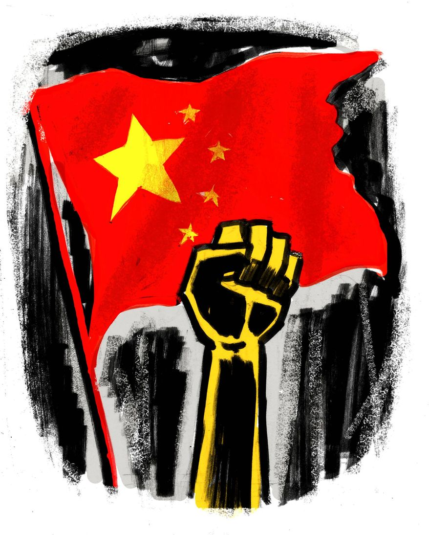 Illustration on protest in Hong Kong by Mark Weber/Tribune Content Agency