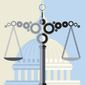 Illustration on the impeachment process by Linas Garsys/The Washington Times