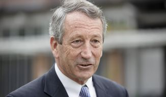Republican presidential candidate, former South Carolina Gov. Mark Sanford speaks on Independence Mall in Philadelphia, Wednesday, Oct. 16, 2019. (AP Photo/Matt Rourke)
