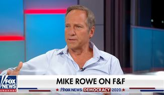 """Author and television personality Mike Rowe of """"Dirty Jobs"""" fame sits down for a """"Fox & Friends"""" interview to promote his new book titled """"The Way I Heard It,"""" Oct. 16, 2019. (Image: """"Fox & Friends"""" screenshot)"""