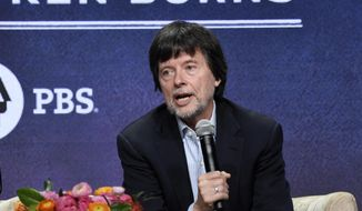 """This July 29, 2019 file photo shows Ken Burns, director of the PBS documentary series """"Country Music,"""" speaking in a panel discussion during the 2019 Television Critics Association Summer Press Tour in Beverly Hills, Calif. (Photo by Chris Pizzello/Invision/AP, File)"""