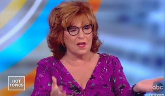 "Joy Behar of ABC's ""The View"" discusses her recent trip to London, Oct. 17, 2019. She told her colleagues that part of her vacation included an argument with a stranger who supported President Trump. (Image: ABC, ""The View"" screenshot)"