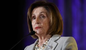 House Speaker Nancy Pelosi of Calif., speaks at the 2019 Democratic women's leadership forum, Thursday, Oct. 17, 2019, in Washington. (AP Photo/Alex Brandon)