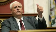 In this Jan. 9, 2019, file photo West Virginia Gov. Jim Justice delivers his State of the State address in the House of Delegates' Chamber in Charleston, W.Va. (Chris Dorst/Charleston Gazette-Mail via AP, File)
