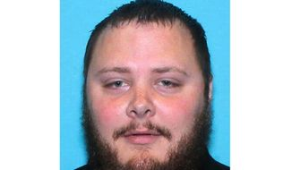 FILE - This undated file photo provided by the Texas Department of Public Safety shows Devin Patrick Kelley. Prosecutors say a sporting goods retailer broke the law by selling a rifle and ammunition to a man who used them to kill more than two dozen worshippers at a Texas church. The Department of Justice said Tuesday, Oct. 17, 2019 that Devin Kelley presented a Colorado driver's license at an Academy Sports + Outdoors store in Texas to buy the rifle and ammunition. Prosecutors say Academy should have complied with Colorado laws that would have prohibited the sale. Academy declined comment Thursday. (Texas Department of Public Safety via AP, File)