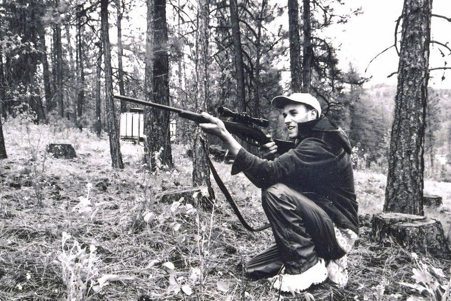 This 2005 photo provided by Alla Kostenko shows Vladimir Kostenko on a hiking trip with friends. In August 2018, a solitary man now missing walked 14 miles into a lonely valley on the western side of Hatcher Pass in Alaska. He carried almost nothing: A backpack, 5 pounds of oatmeal. No rifle or bear spray. Vladimir Kostenko planned to stay at a tiny dry cabin for months. He was seeking no less than the meaning of life. For most of his 42 years, Kostenko had been on a spiritual quest to understand his place in the universe. (Alla Kostenko via AP)