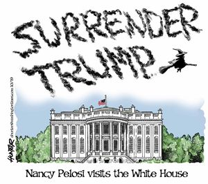Nancy Pelosi visits the White House