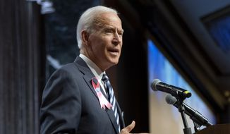 Democratic presidential candidate former Vice President Joe Biden speaks at the United Federation of Teachers annual Teacher Union Day, Sunday, Oct. 20, 2019, in New York. (AP Photo/Craig Ruttle)