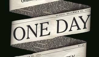"This cover image released by Blue Rider Press shows ""One Day: The Extraordinary Story of an Ordinary 24 Hours in America,"" by Gene Weingarten. (Blue Rider Press via AP)"