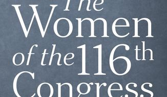 "This cover image released by Abrams shows ""The Women of the 116th Congress: Portraits of Power,"" by Elizabeth D. Herman and Celeste Sloman. (Abrams via AP)"