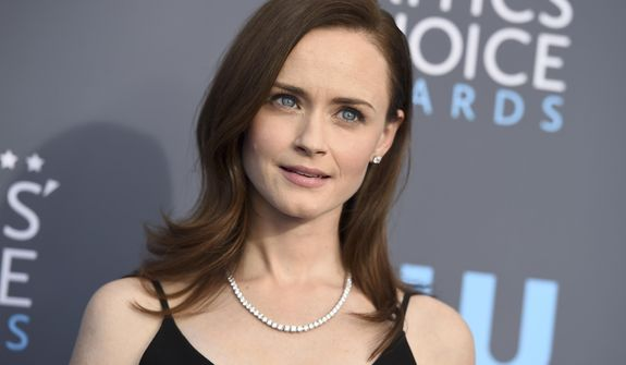 This Jan. 11, 2018, file photo shows Alexis Bledel at the 23rd annual Critics' Choice Awards in Santa Monica, Calif. Cybersecurity firm McAfee on Monday crowned Bledel the most dangerous celebrity on the internet in 2019. No other celebrity was more likely to land users on websites that carry viruses or malware.  (Photo by Jordan Strauss/Invision/AP, File)