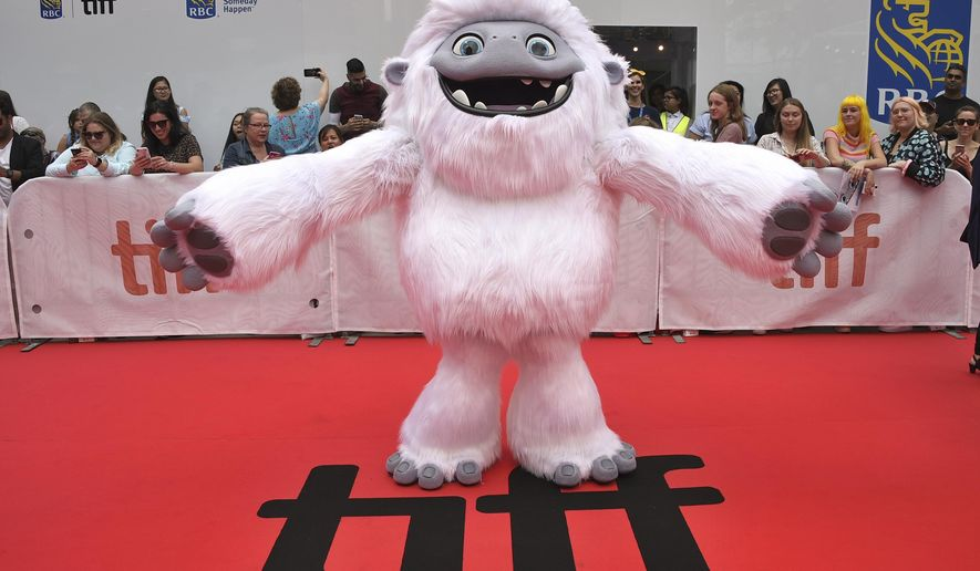 """FILE - In this Sept. 7, 2019, file photo, the character Everest from the film """"Abominable"""" appears on the red carpet on day three of the Toronto International Film Festival at Roy Thomson Hall in Toronto. The animated movie """"Abominable"""" will skip Malaysian theaters after producers decided against cutting out a scene showing a map supporting Chinese claims to the disputed South China Sea. (Photo by Evan Agostini/Invision/AP, File)"""