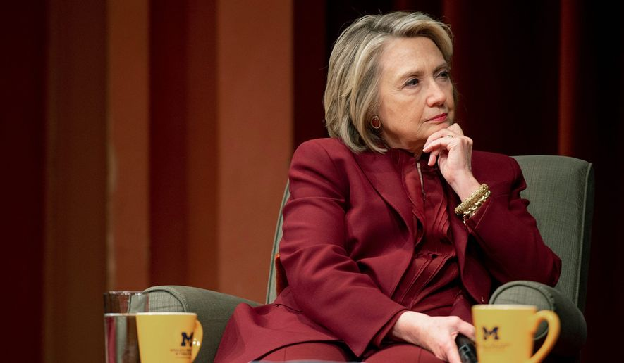 Hillary Clinton has been haunting the political world for nearly three years after her election loss with book tours and appearances on networks controlled by liberals. (Associated Press/File)