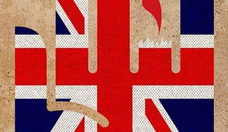 Brexit cut Short Illustration by Greg Groesch/The Washington Times