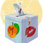 Ballot Box Peach Illustration by Greg Groesch/The Washington Times